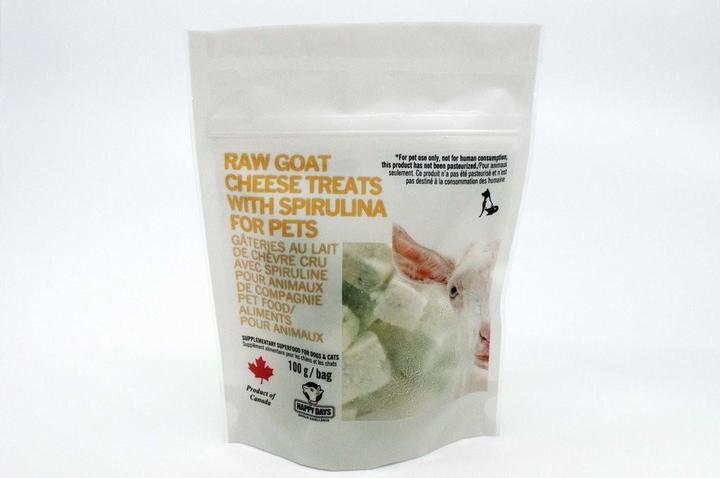 Happy Days Raw Goat Cheese with Spirulina Dog & Cat Treats