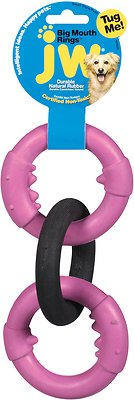 JW Pet Big Mouth Triple Ring Dog Toy, Color Varies, Small