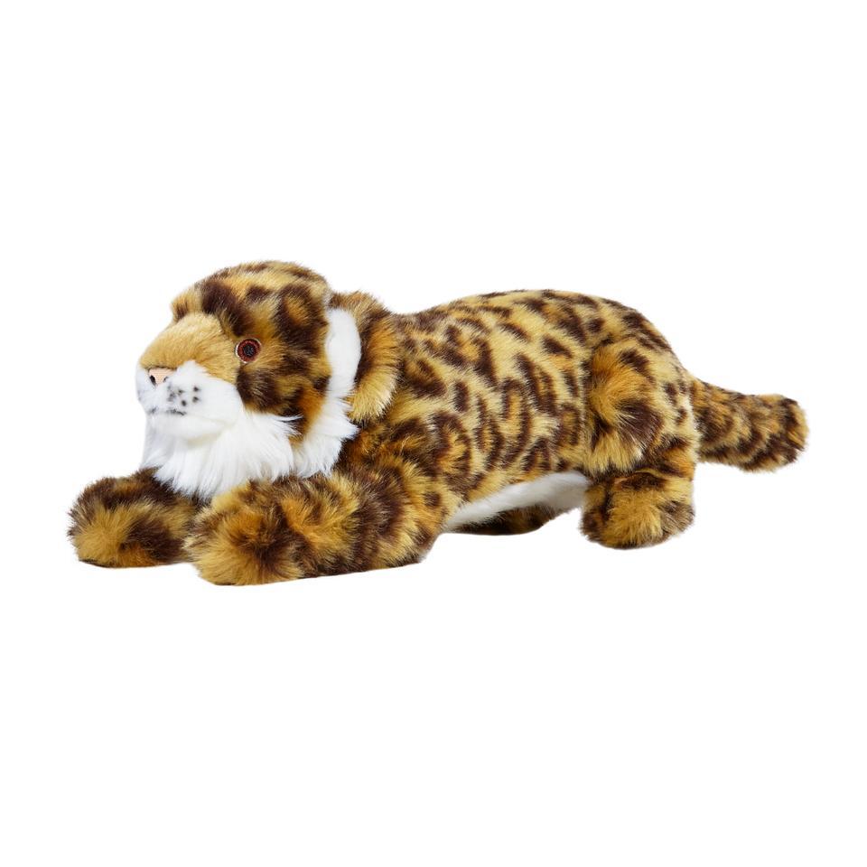 Fluff & Tuff Lexy Leopard Dog Toy, 15-in