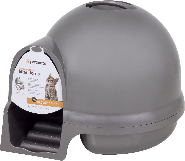 Booda Dome Cleanstep Litter Box, Nickel