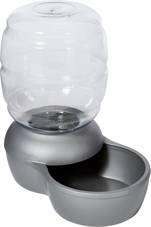 Petmate Pearl Replendish Waterer With Microban, Brushed Nickel Image