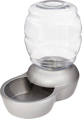 Petmate Pearl Replendish Waterer With Microban, Brushed Nickel, 1-gal