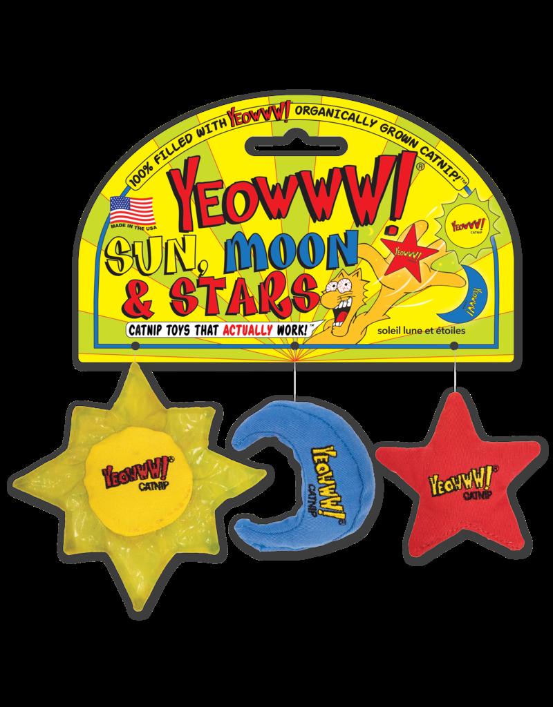 Yeowww! Sun, Moon & Stars Catnip Toys, 3-pack