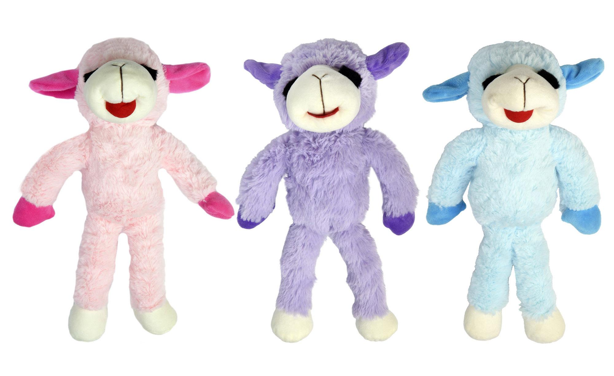 Multipet Pet Envy Floppy Lamb Chop Dog Toy, Assorted, 14-in