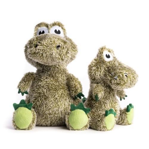 fabdog Fluffy Plush Dog Toy, Alligator, Large