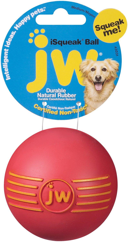 JW Pet iSqueak Ball Dog Toy, Color Varies Image