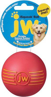 JW Pet iSqueak Ball Dog Toy, Color Varies, Medium