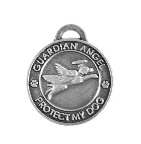 Luxepets Guardian Angel Dog Collar Charm, Silver