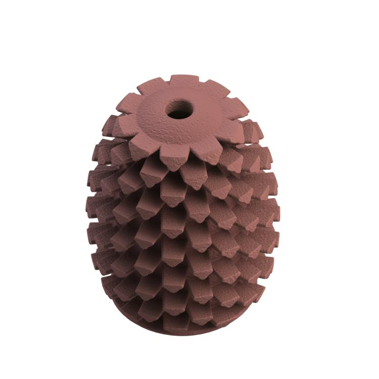 Tall Tails Natural Rubber Pinecone Dog Toy, 4-in