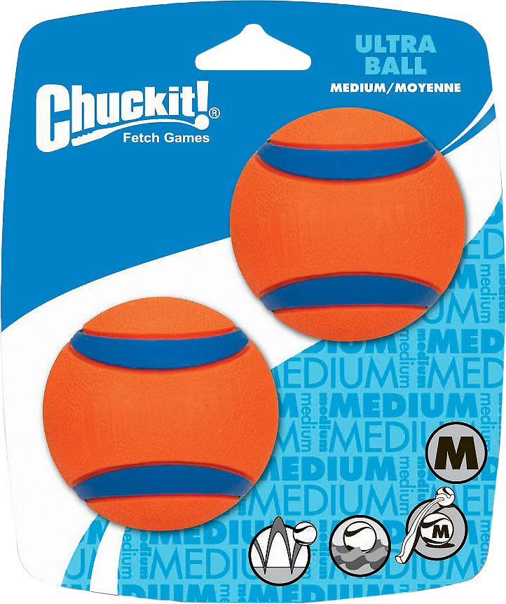 Chuckit! Ultra Rubber Ball Dog Toy, 2 pack Image