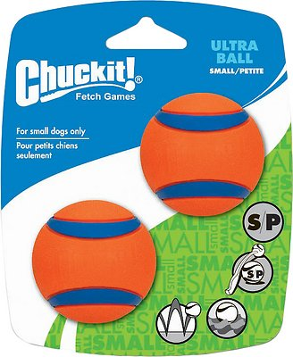 Chuckit! Ultra Rubber Ball Dog Toy, 2 pack, Small, 2 pack