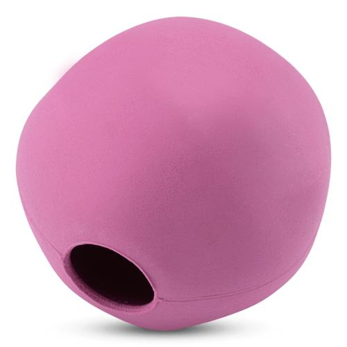 Beco Natural Rubber Ball Treat Dispensing Dog Toy, Pink, Small