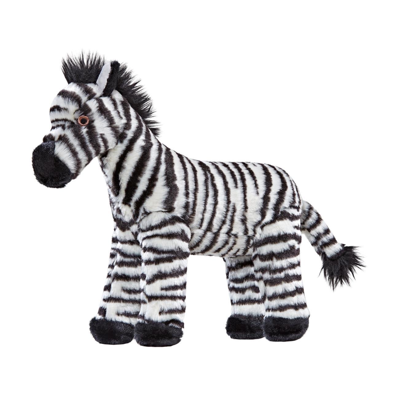Fluff & Tuff Bob Zebra Dog Toy, 11.5-in