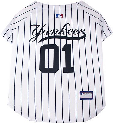 Pets First New York Yankees Dog & Cat Jersey, Large