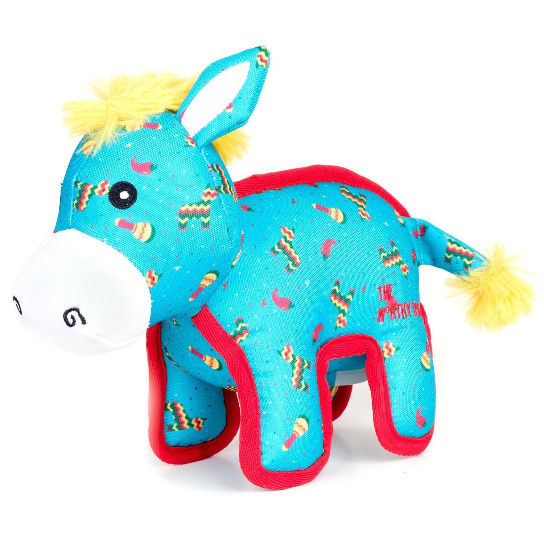 The Worthy Dog Pinata Donkey Dog Toy, Small