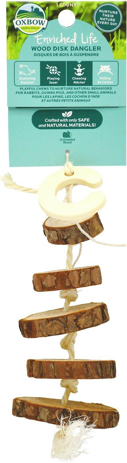 Oxbow Enriched Life Wood Disk Dangler Small Animal Toy Image