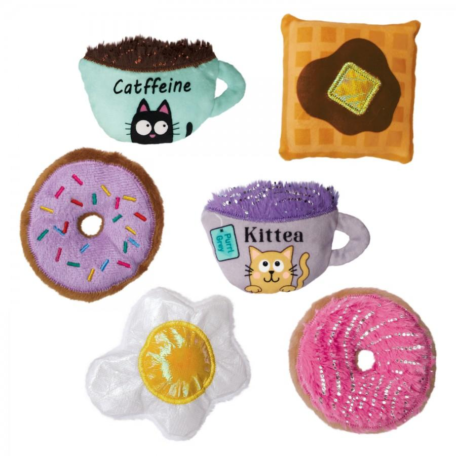 KONG Scrattles Cafe Cat Toy, Assorted Image