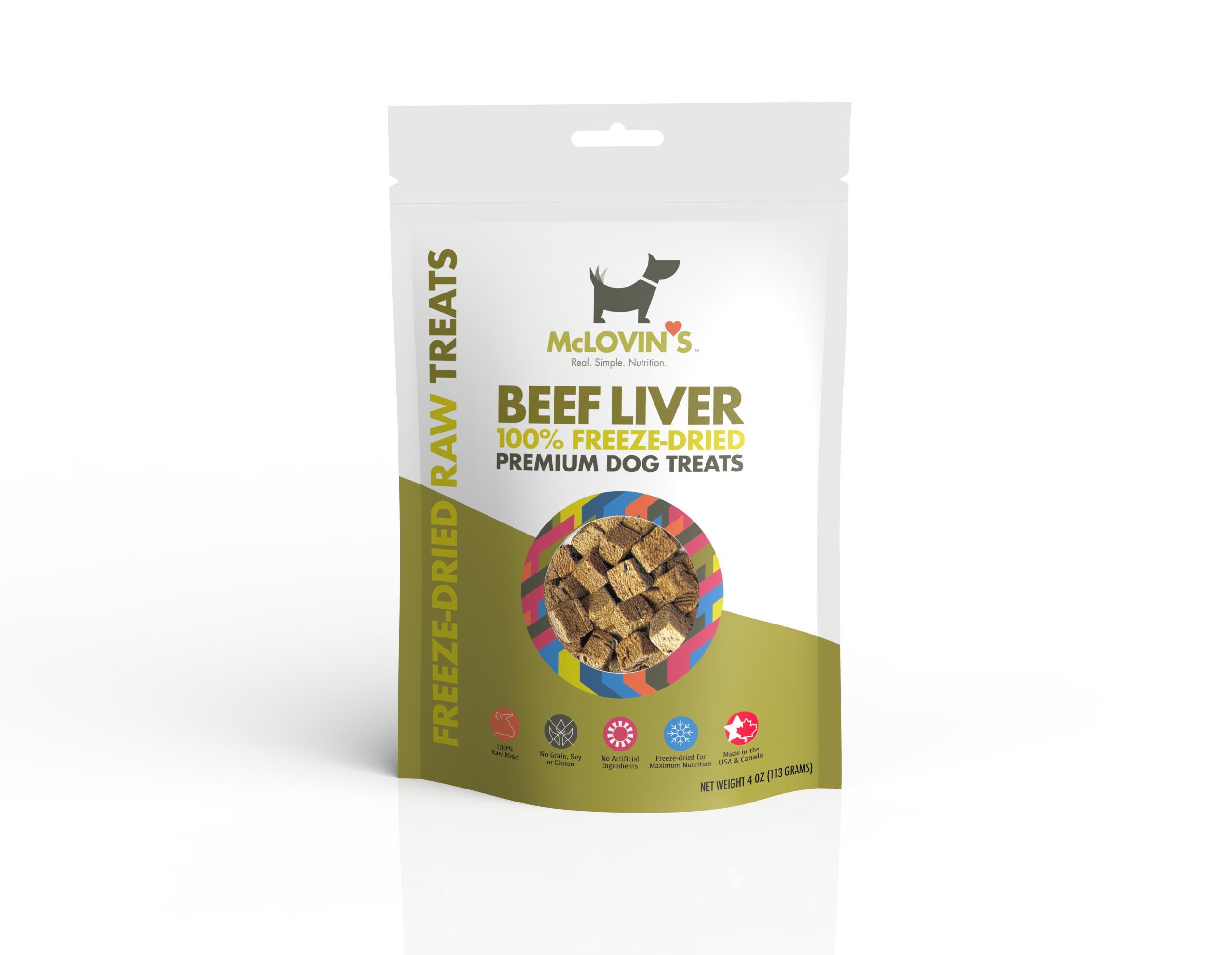 McLOVIN'S Beef Liver Freeze-Dried Dog Treats, 4-oz