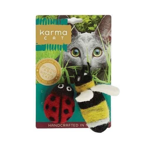 Dharma Dog Karma Cat Ladybug & Bee Cat Toy Image