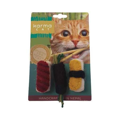 Dharma Dog Karma Cat Sushi Cat Toy Image