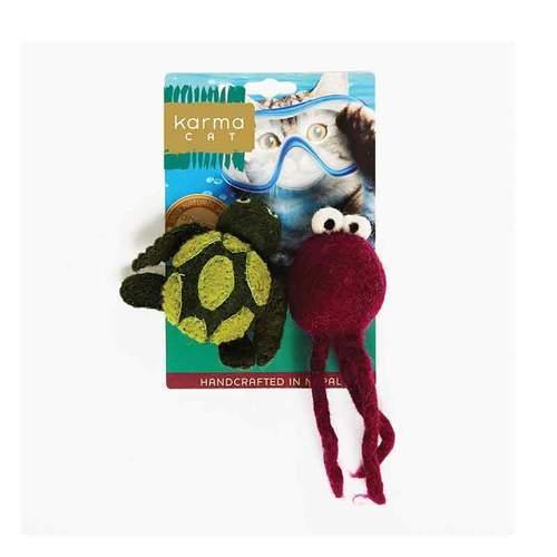 Dharma Dog Karma Cat Turtle & Jellyfish Cat Toy Image