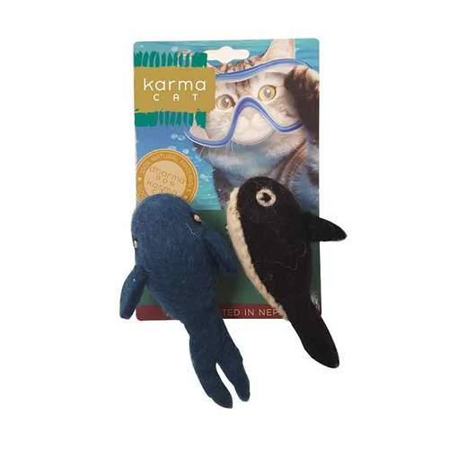 Dharma Dog Karma Cat Whale & Orca Cat Toy Image