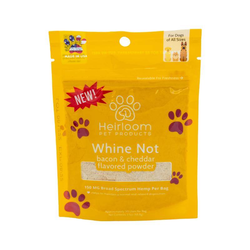Heirloom No Whine Bacon & Cheddar Dog Treats, 2-oz