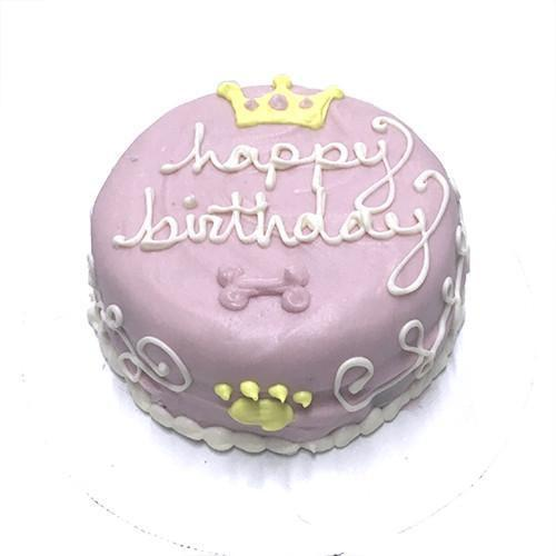 Bubba Rose Biscuit Co. Princess Birthday Cake Dog Treats, 4.5 x 2.25-in