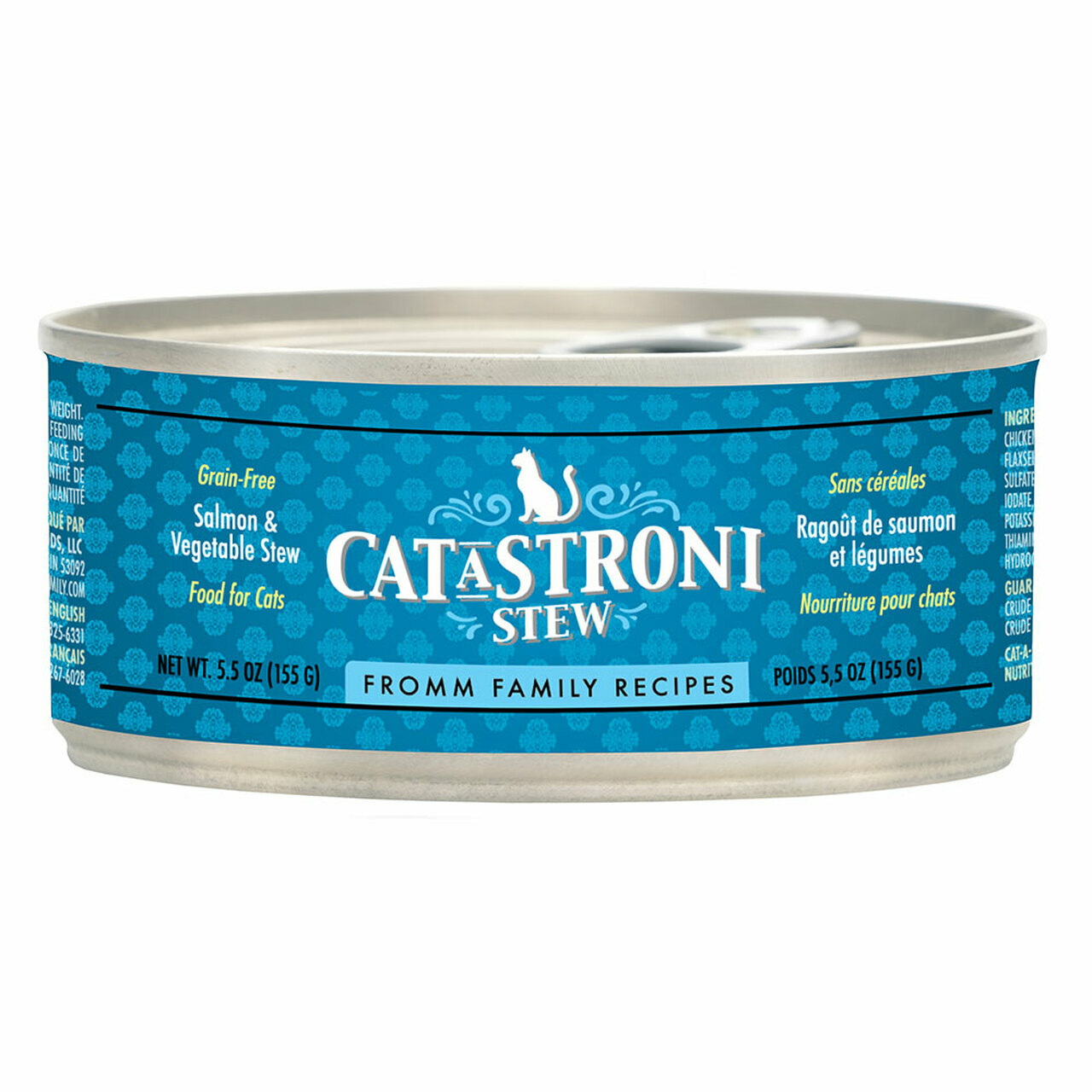 Fromm Family Recipes Cat-A-Stroni Stew Salmon & Vegetable Stew Canned Cat Food, 5.5-oz