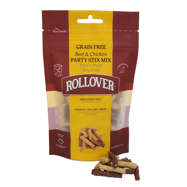 Rollover Grain-Free Beef & Chicken Party Stix Mix Dog Treats Image