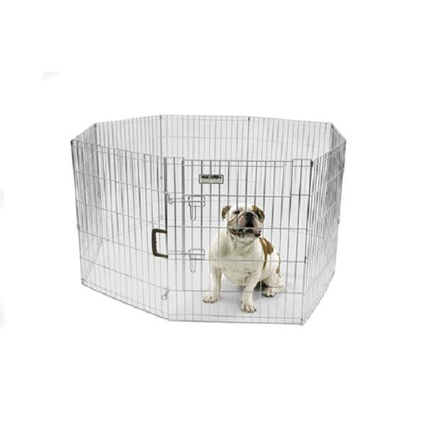 Precision Pet Silver ExPen with Door Pet Exercise Pen, 30-in