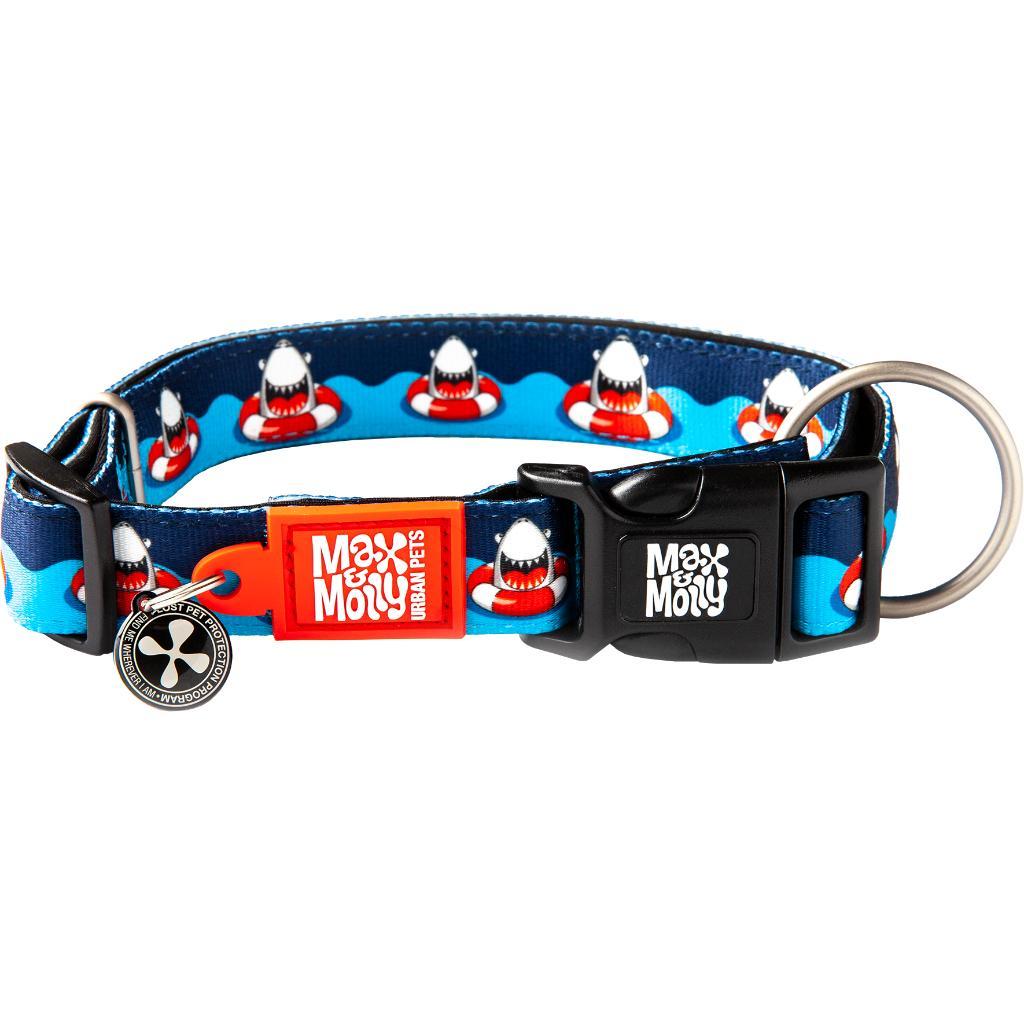 Max & Molly Smart ID Dog Collar, Frenzy the Shark Image