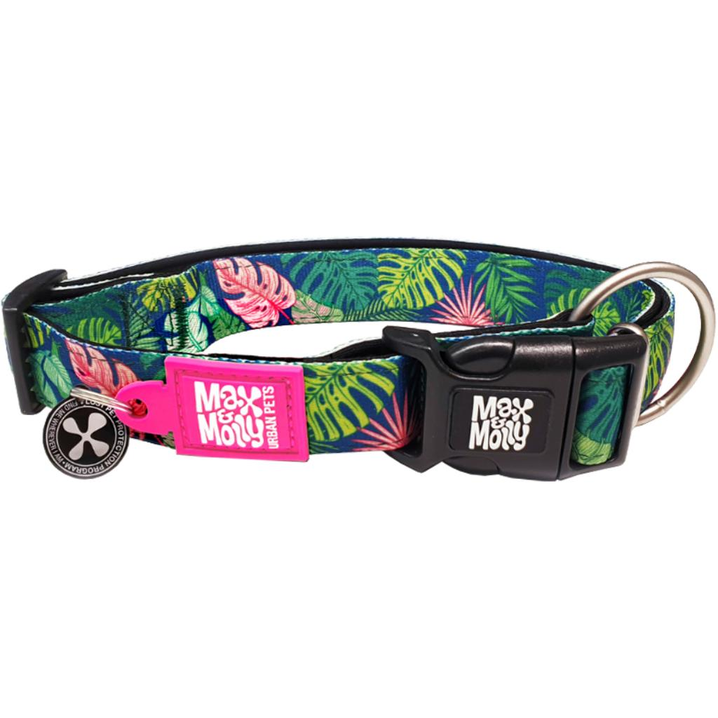 Max & Molly Smart ID Dog Collar, Tropical, 8-13-in