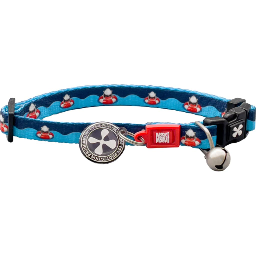 Max & Molly Smart ID Cat Collar, Frenzy the Shark Image