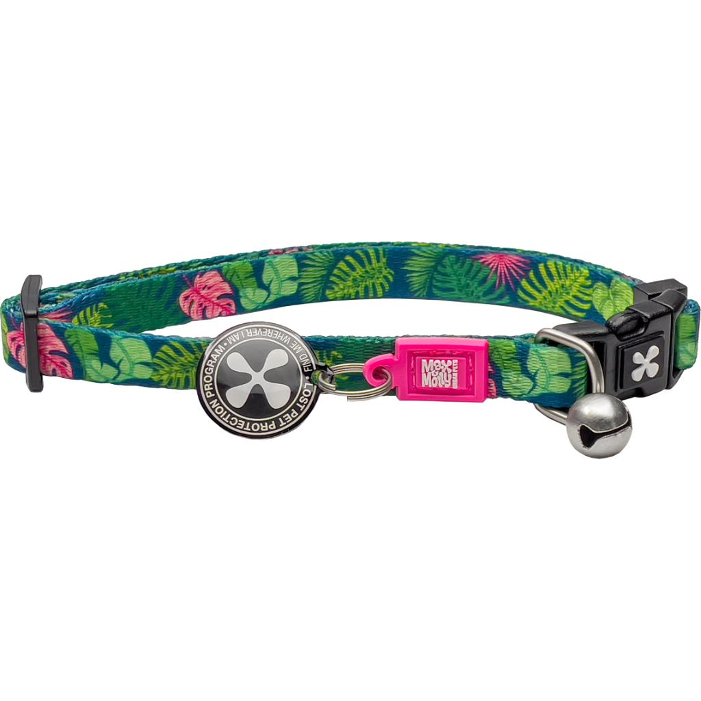 Max & Molly Smart ID Cat Collar, Tropical Image