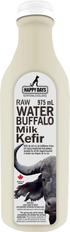Happy Days Raw Water Buffalo Milk Kefir for Dogs & Cats, 975-mL