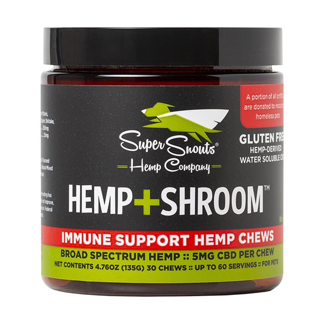Super Snouts +Shroom Immune Support Chews Alternative Supplements for Dogs & Cats, 30-count