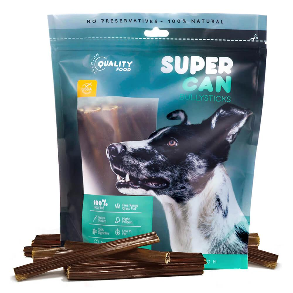 SuperCan Beef Gullet Sticks Dog Treats, 6-in, 8-oz