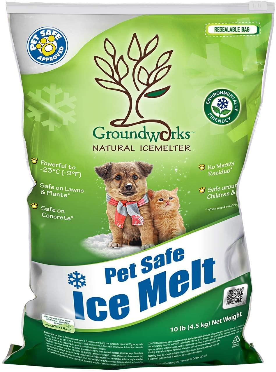 Groundworks Pet Friendly Natural Ice Melter, 10-lb bag