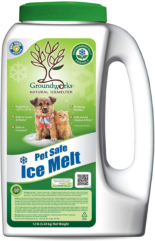 Groundworks Pet Friendly Natural Ice Melter, 12-lb jug