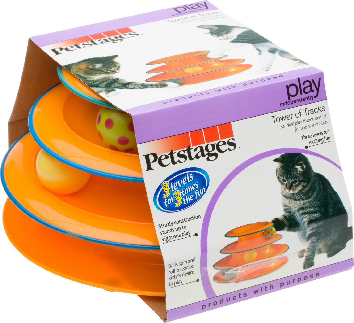 Petstages Tower of Tracks Cat Toy, 10-in