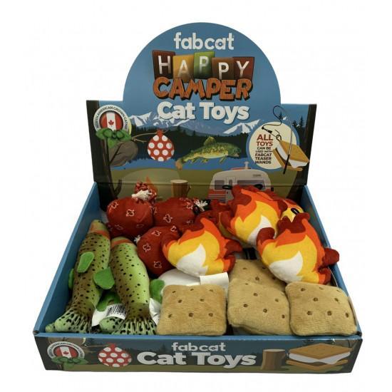 fabdog fabcat Happy Camper Cat Toy, Assorted