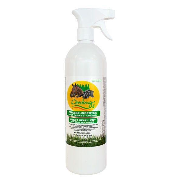 Citrobug Natural Insect Repellent for Dogs & Horses, 1-L
