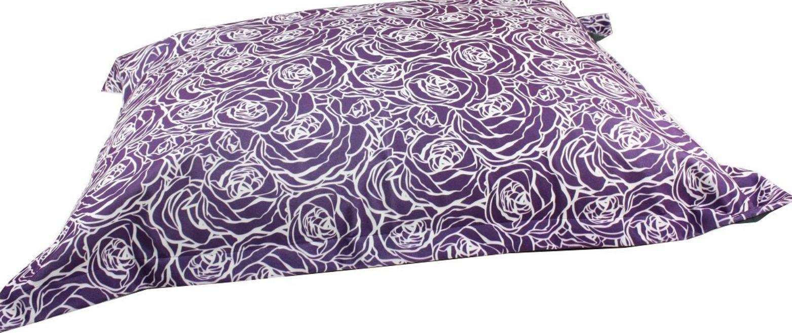 BeOneBreed Cloud Pillow for Dogs, Purple Flower, Medium