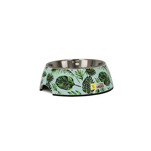 BeOneBreed Tropical Palm Pet Bowl, Medium