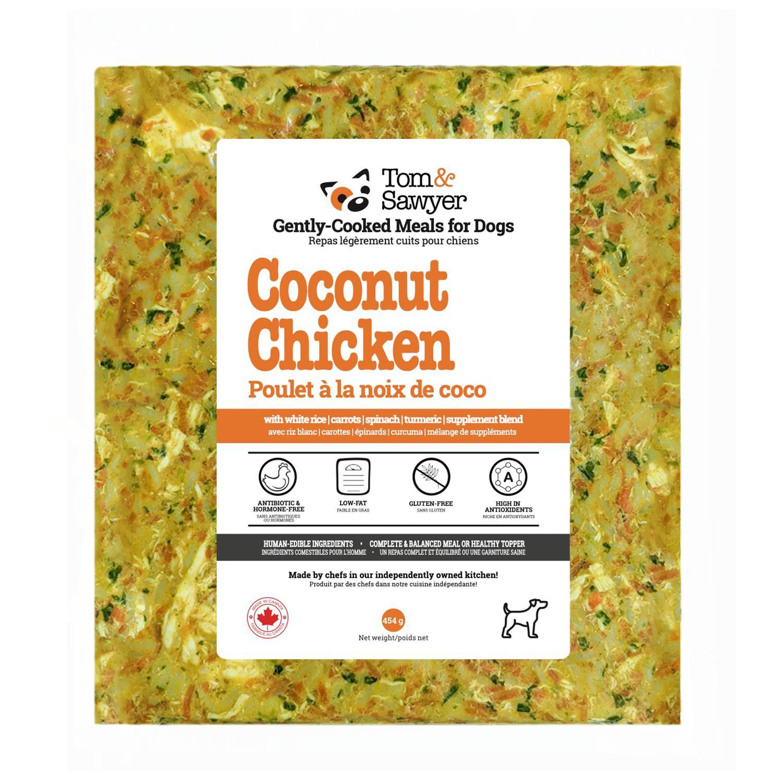 Tom&Sawyer Coconut Chicken Frozen Dog Food, 454-gram