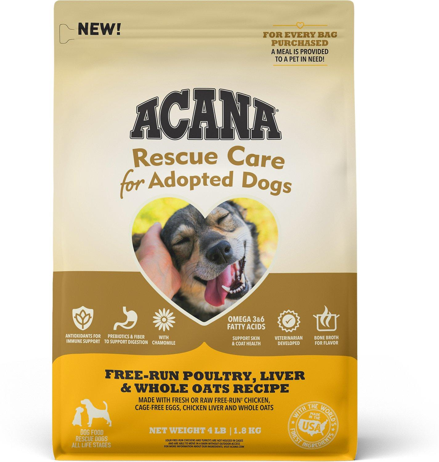 ACANA Rescue Care for Adopted Dogs Poultry, Liver & Oats Dry Dog Food, 4-lb