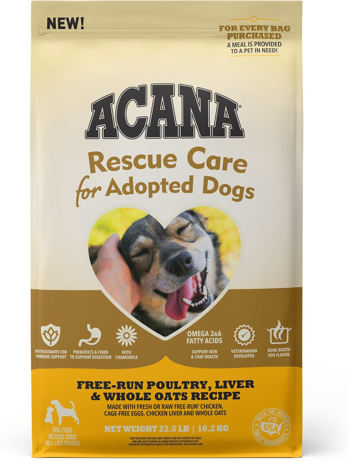 ACANA Rescue Care for Adopted Dogs Poultry, Liver & Oats Dry Dog Food, 22.5-lb