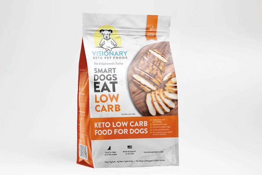 Visionary Keto Pet Foods Chicken Recipe Dry Food, 3.5-lb