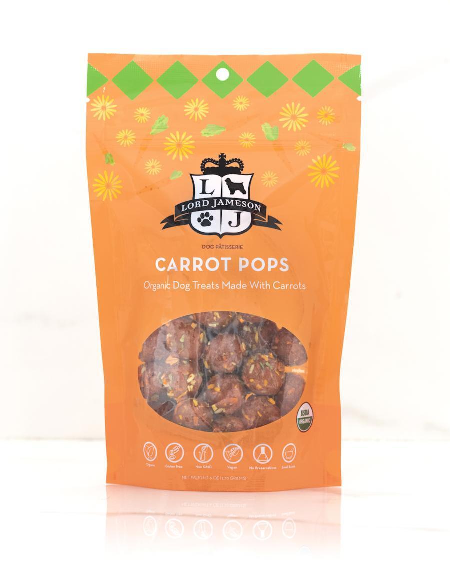 Lord Jameson Carrot Pops Organic Dog Treats, 6-oz
